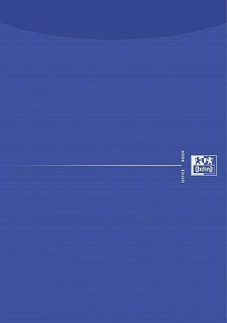 Briefblock A4 50Bl Oxford blanco Deckblatt blau 3533405020 und 100050239, Verpackungseinheit: 20 Stück