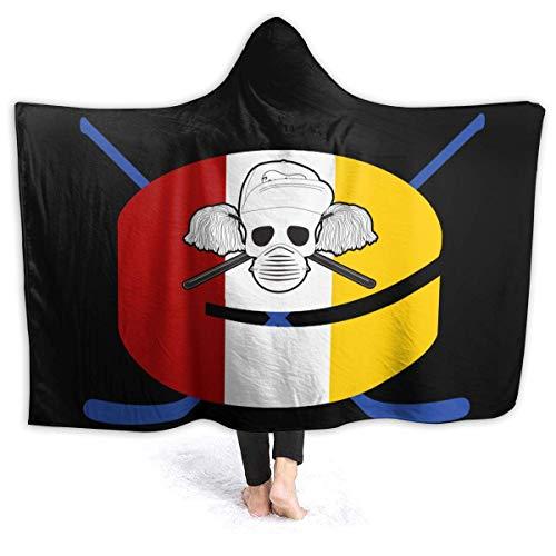 Manta con Capucha de Hockey con Bandera de San Diego Niños Adultos Sherpa Fleece Blanket for Couch Bed Sofa Travelling Camping-8Q8
