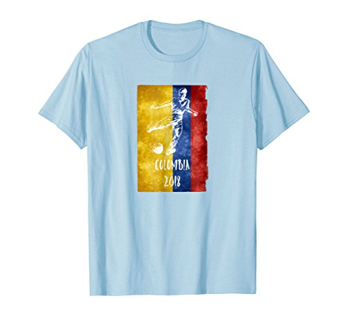Colombian Football 2018 T-Shirt Gift Colombia Soccer Jersey