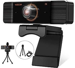 【1440P Videos & Corrección Auto de Luz】Esta webcam con micrófono presenta imágenes de mucha nitidez. Con el sensor de imagen CMOS y la tecnología de compresión de video H.264 / H.265, la transmisión de imágenes es más estable y fluida, ofreciéndole u...