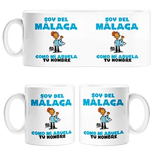 Diver Tazas Taza Soy del Málaga como mi Abuela Personalizable con Nombre - Cerámica