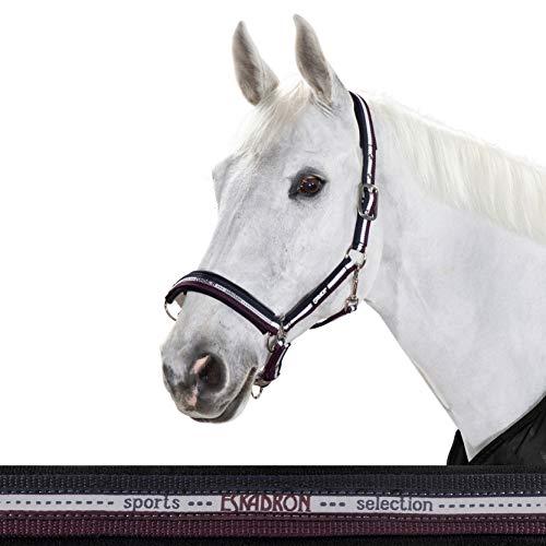 ESKADRON Standard Halfter PIN BUCKLE, nightblue-white-blackberry, Warmblut