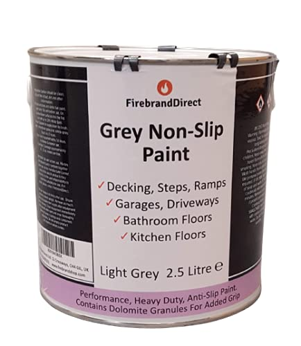 Grey Non-Slip Paint 2.5L – Outstanding Grip And Safety For Garage...