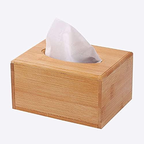 LBHH Caja para pañuelos 1 Piezas Caja para Pañuelos Cuadrada Caja de cajón de Madera Personalizado Simple Coche hogar Moda Sala de Estar Mesa de Centro servilleta Caja de pañuelos de Escritorio