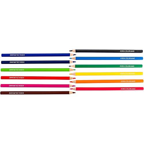 Kidea- Lápices de colores (Globo 37944) , color/modelo surtido