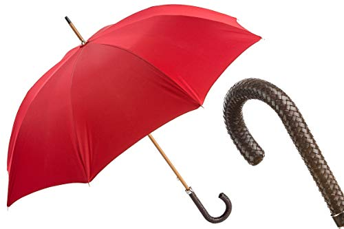 Lowest Price! Pasotti 143 Double-19 N37 - Gent Umbrella with Braided Leather Handle