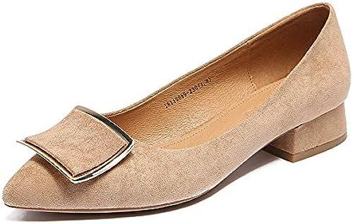 XZGC Retro Matt Low-Heeled Schuhe Fashion Fashion Fashion and Student Schuhe  bis zu 70% Rabatt
