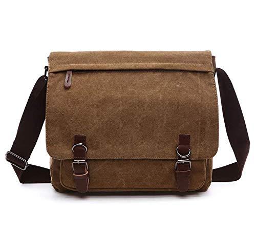 Canvas Laptop Messenger Bag Travel School Bookbag For 11.6' Lenovo Chromebook C330 500e 300e, Ideapad 130s, ThinkPad 11E, 12.5' Yoga 720 710, Dell XPS 12, Dell Inspiron 11, Dell Chromebook 11 (Brown)