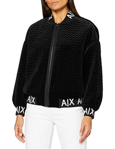 ARMANI EXCHANGE Blouson Jacket Giacca Trapuntata, Black, S Donna