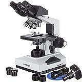 AmScope B490B-3M Digital Compound Binocular Microscope, WF10x and...