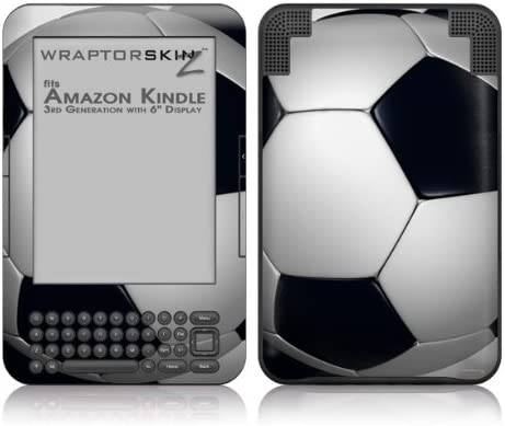 WraptorSkinz Soccer Ball - Over item handling Rare Decal Style fits 3 Skin Amazon Kindle
