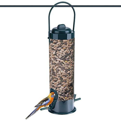 Felenny Hängende Wildvogel Feeder Outdoor Garten Kunststoff Transparent Hängende Wildvogel Feeder Samenbehälter Lagerung