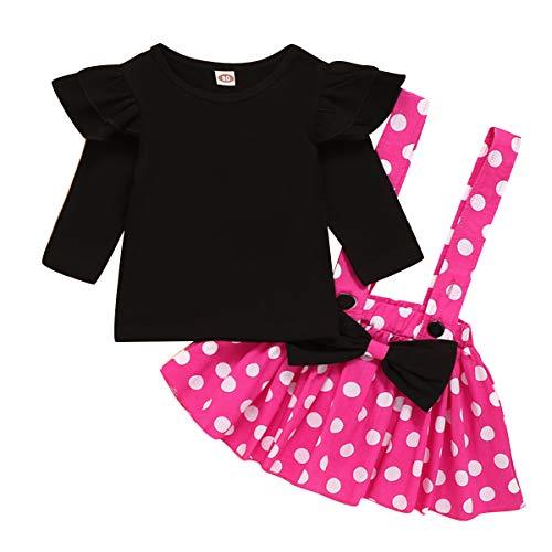 Ropa de cumpleaos de lunares para beb, camiseta de manga larga + falda de tirantes + diadema con correa de princesa, disfraz de Minnie Carnaval Cosplay