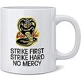 Taza De Desayuno,Porcelana Taza Té Café,Único Tazas,Cobra Kai Karate Kid Strike First...