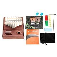 17 キー カリンバ 17音 親指ピアノ カリンバ 素敵な音色 音楽玩具 誕生日ギフト 音楽教育 (17音复古色)