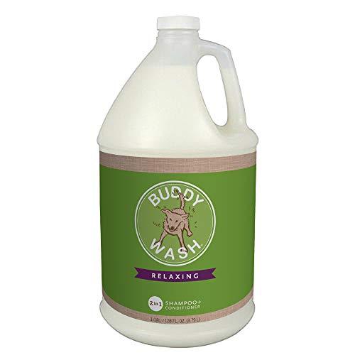 Buddy Wash Dog Shampoo & Conditioner for Dogs with Botanical Extracts and Aloe Vera, Green Tea & Bergamot, Gallon Jug