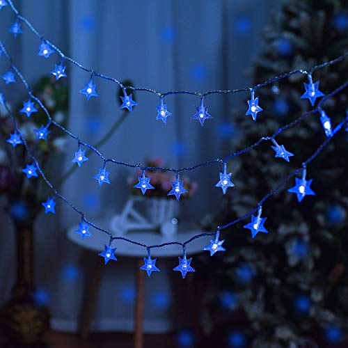 Star String Lights, 100 LED Plug in Fairy String Lights Waterproof Twinkle String Lights for Indoor, Outdoor, Wedding, Party, Christmas, New Year, Garden Decoration (Pink)