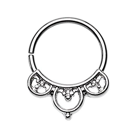 Inspiration Dezigns Bendable Twist Hoop Ring Aeval Celtic Goddess Septum/Daith 18G (Steel)