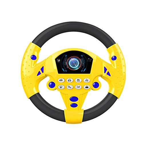 Jarome Pequeño Volante de Juguete Controlador de conducción simulado Volante de conducción simulado portátil Juguete de copiloto Juguete Educativo para niños Regalo Divertido Volante Appealing