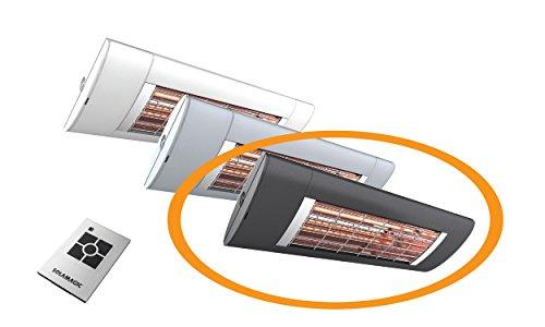 Solamagic Infrarotstrahler S2 ARC, 2500 Watt, mit Funksteuerung und Fernbedienung - anthrazit