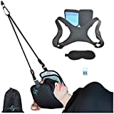 Hammock for Head - 5 Items Pack - Pain Relief and Physical Therapy - Relieves Stress Headaches and Head Neck Part Support - Portable Adjustable Straps - Posture Corrector Eye Mask Ear Plugs Carry Bag