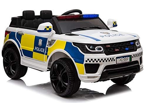 Coche Infantil De Policia 12V Jc-002, Blanco, Mando RC