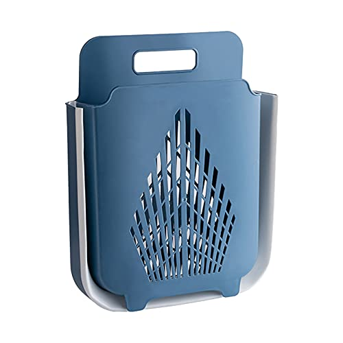 B Blesiya Cesta plegable para desagüe de ropa, paño plegable grande, cubo para lavar ropa, contenedor de gran capacidad para cuarto de baño, lavadero - Azul