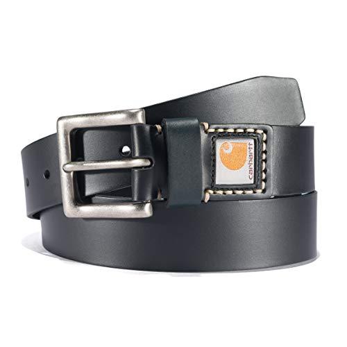 Carhartt Herren Leather Belt Gürtel, Legacy Black, 40