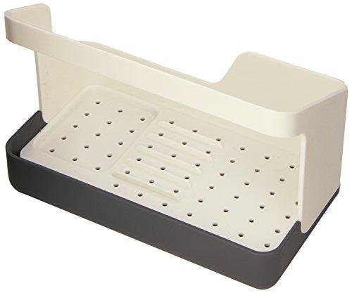RIG-TIG by Stelton Z00067 Sink Caddy Bac de Rangement Plastique Cool Grey/Pure White 10,5 x 19 x 14 cm