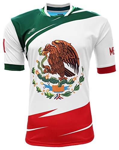 Arza Sports Mexico Men Fan Jersey Color Green,White,Red (Small)