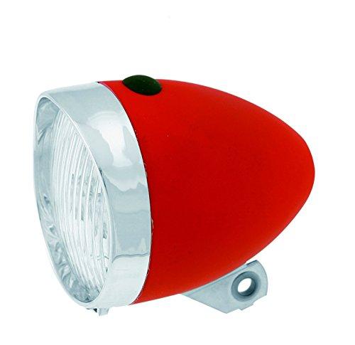 Luz Foco Frontal de 3 Led con Pilas incluidas para Bicicleta Retro Clasico Rojo 3465
