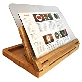 Hala Flip Cookbook Holder Bamboo Large with Acrylic Shield