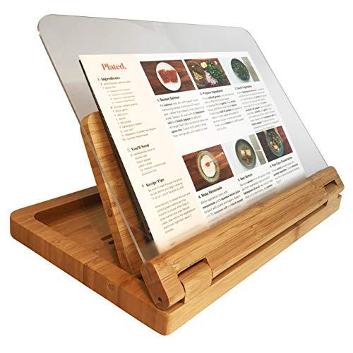 Hala Flip Cookbook Holder Bamboo