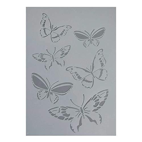 1 flexible Schablone Kunststoff 21x14,8cm / 30x31cm, Motivwahl - DIY Karte Kunst, Größe:Schmetterling 30 x 21 cm
