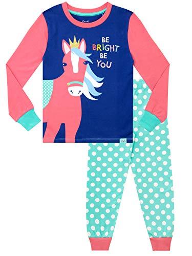 Harry Bear Pijamas para Niñas Ajuste Ceñido Caballo Arcoiris