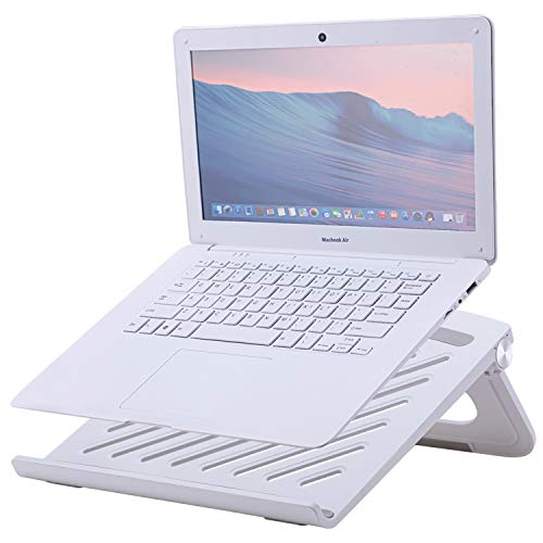 """Portable Laptop Stand Holder Riser, Adjustable Cooling Pad with Heat-Vent, Computer, Tablet, Notebook Holder Compatible with MacBook, Air, Pro, Dell XPS, HP, Samsung, Alienware, More Laptops up to 17"""""""