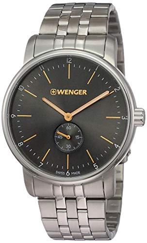 WENGER Reloj Analogico para Unisex de Cuarzo con Correa en Acero Inoxidable 01.1741.106