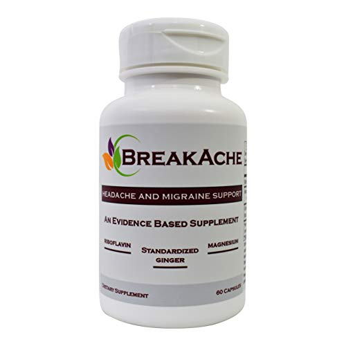 Why BreakAche? BreakAche is formulated to provide the studied dosages in clinical trials that showed positive results. BreakAche is formulated to work and be a safe natural alternative in only two pills per day! Key Differences: 400mg of Riboflavin i...