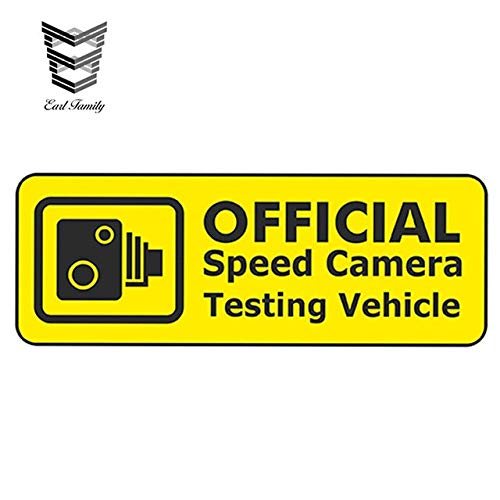 N/X YDBDB 13cm x 4.8cm SPEED CAMERA TEST VEHICLE Grappige Rat Look JDM Euto Stijl Vinyl Auto Sticker Bumper Window Accessoires