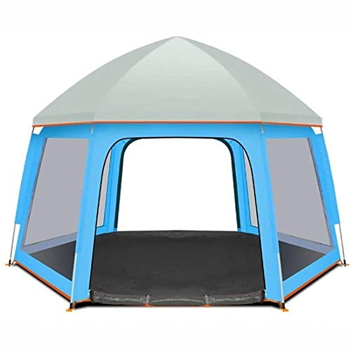 YITING Tents for camping waterproof,4-5 people automatic speed-open waterproof outdoor tent, 6-side ventilation, sufficient light,Travel beach tents (Color : Blue)