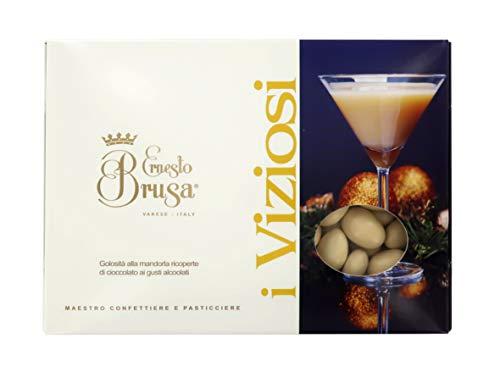 Ernesto Brusa Confetti con Mandorla tostata ricoperta di Cioccolato Bianco al Gusto Rum, Beige - Linea I Viziosi - 1 kg