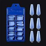 100Pcs/Set Full Cover Matte Candy Color False Nail Tips Nail Art Manicure Matte Tips for False Fake Nails Extension for Nails,light blue,China