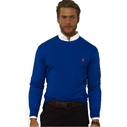 Polo Ralph Lauren Jersey de algodón C-Neck (XL, Fawn Grey)