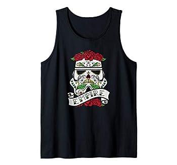 Star Wars Stormtrooper Sugar Skull Roses Empire Tattoo Tank Top