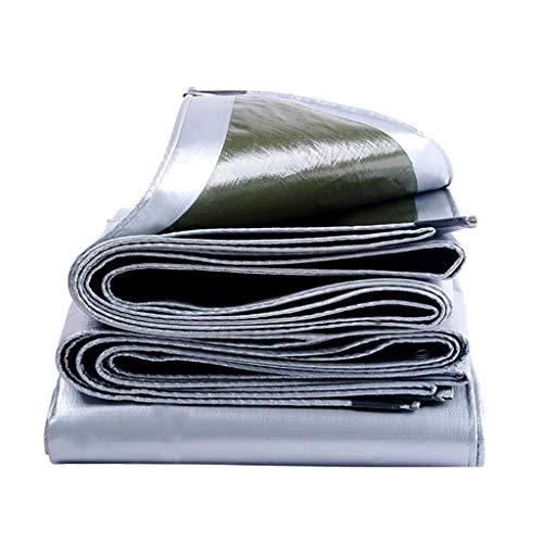 MSF Tältplaner vattentät Plane för utomhusbruk Heavy Duty – campingtältskydd med öglor – solskydd tjockt mögelbevis – åldersbeständig – mångsidig (storlek: 8 × 12 m)