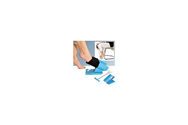 b43351e6e6 Amazon.com: Kinsman Enterprises 32035 Easy-On/Easy-Off Sock Aid Kit, Blue:  Industrial & Scientific