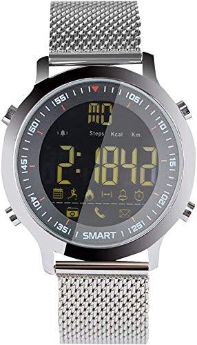 JSL Smartwatch Smart Watch Activity Trackers 1,3 Zoll Fitness Smart Watch Herren Smart Watch mit Musik Wasserdicht Ip68 Blutdruck-Uhren für Frauen Schwarz Klassisch Schwarz-Silver