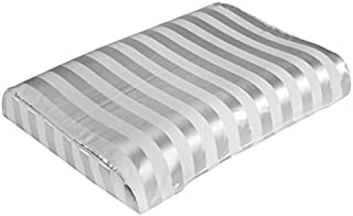 """The White Willow Standard Contour Ventilated Comfort Gel Striped Memory Foam Pillow - 23"""" L x 12"""" W x 4"""" H, Ivory"""