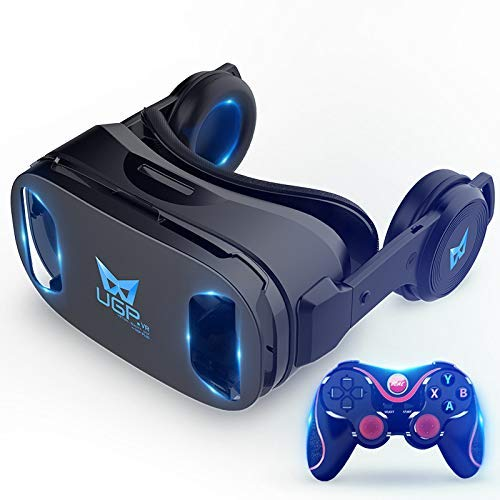 New VR Headset 3D Glasses Theatre Anoramic 360deg; Viewing Conversion for Game,Movies Suitable 6.3-6...