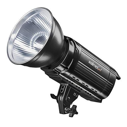 Walimex pro Niova 100 Plus Daylight – LED Videoleuchte Dauerlicht Studioleuchte, 100 Watt, COB LED, dimmbar, Daylight Version 5600K, 14.000 Lumen, CRI ≥ 93 Ra, Funk Fernbedienung, Bowens Reflektor